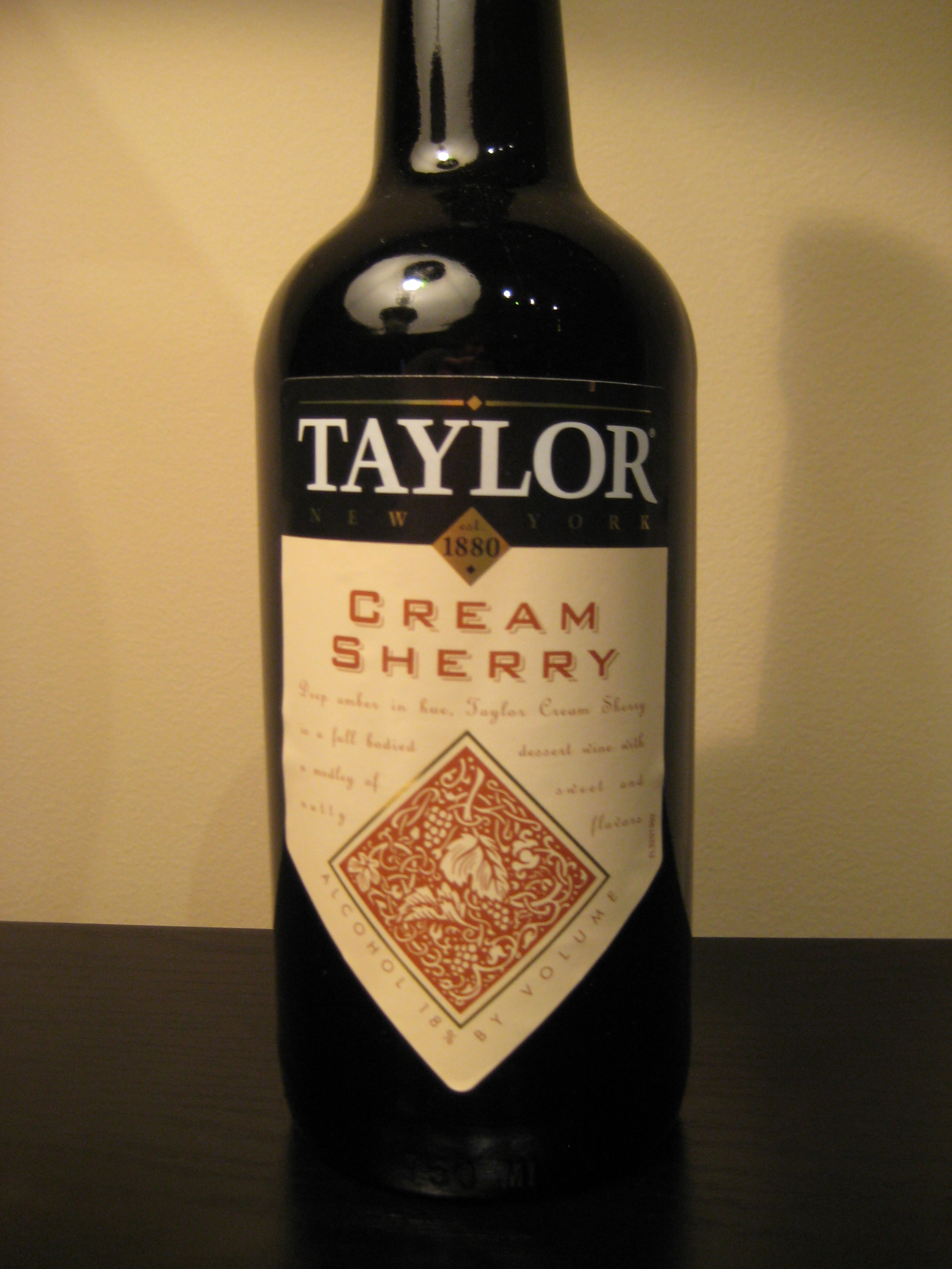 Taylor Cream Sherry First Pour Wine
