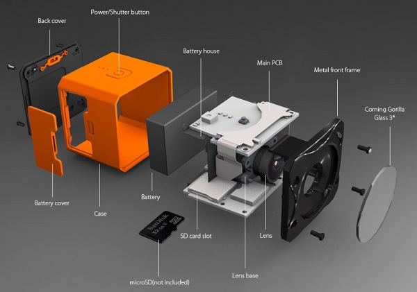 RunCam 3S main parts