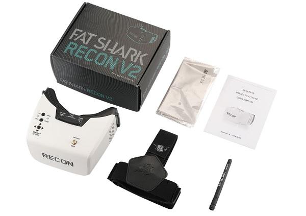 Fat Shark Recon V2 box content