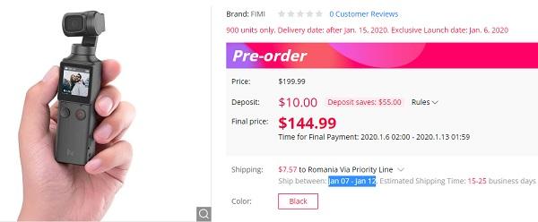 Xiaomi FIMI PALM 4K price