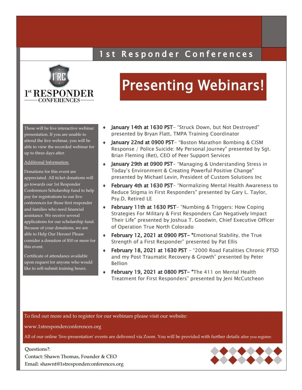 1st Responder Conferences