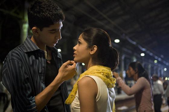 Dev Patel and Freida Pinto, in 'Slumdog Millionaire'