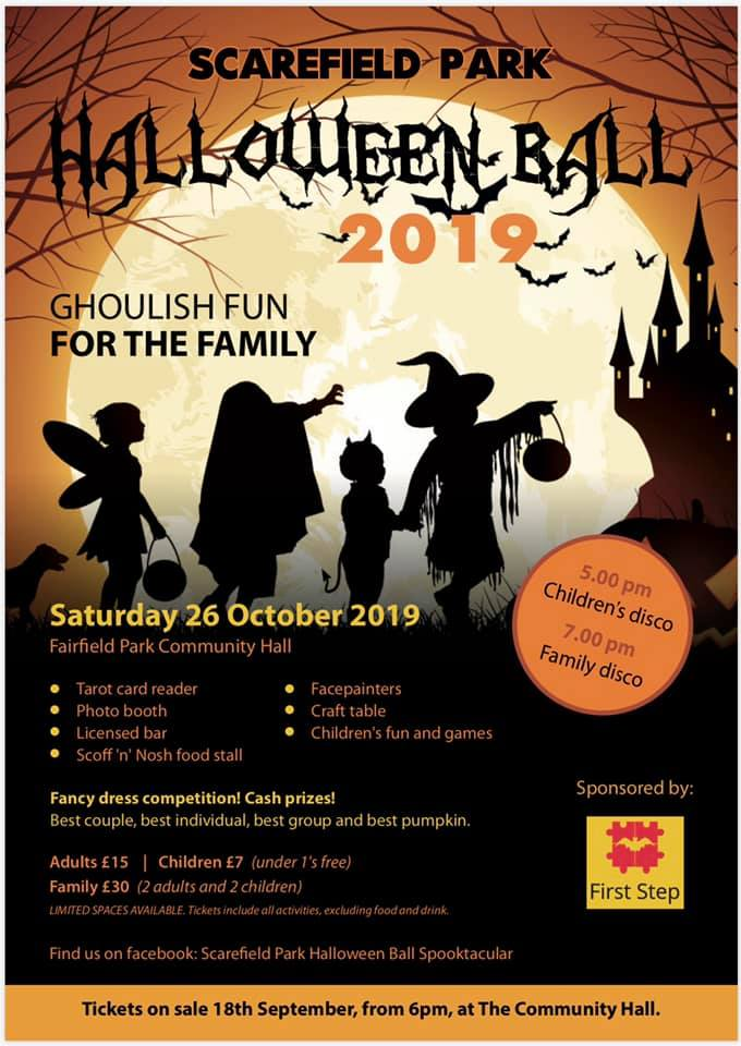 proudly sponsoring the Halloween Ball at Scarefield Park!