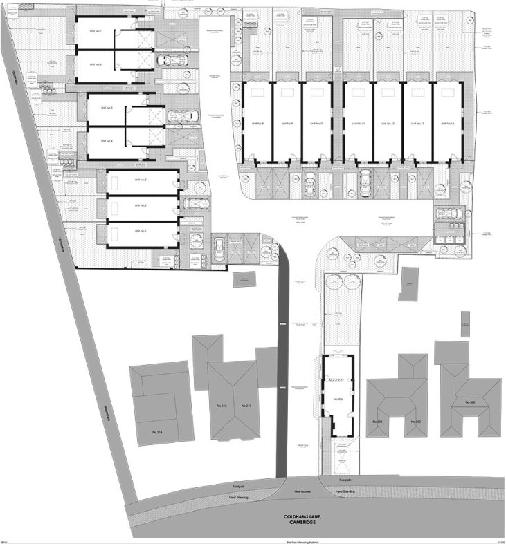 Coldhams Site Plan