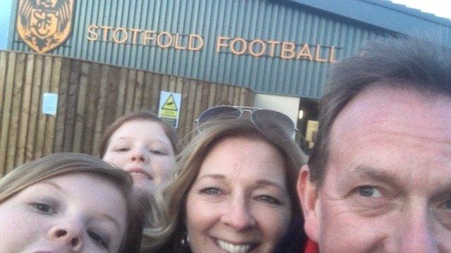 David, Jules at the Stotfold Football