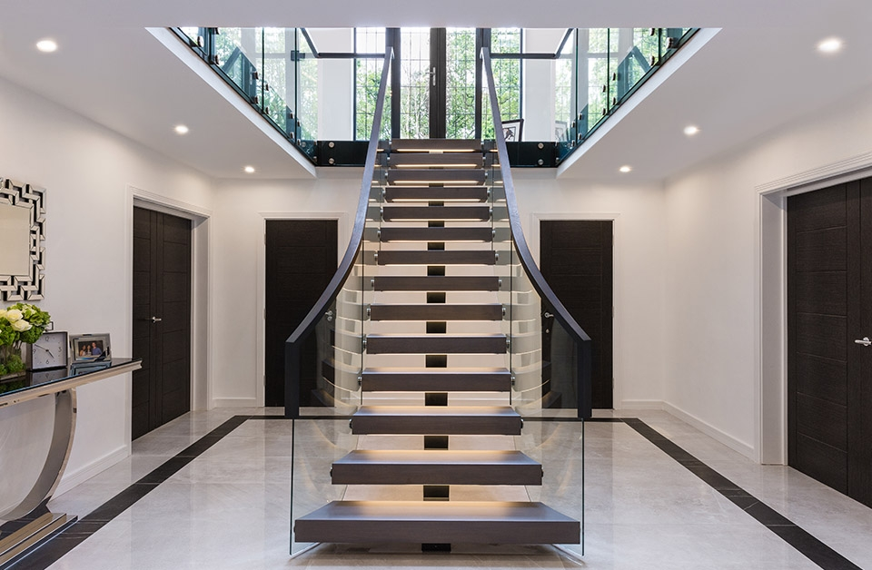First Step Designs One Of A Kind Designer Staircases   Design For Stairs At Home   Iron   Interior Design   Stairway   Wood   Living Room
