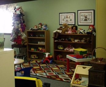 Picture of the Children's Play Area inside of the Library