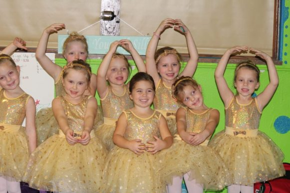 Picture of Young Ballerinas excited about their performance in Nutcracker -Magical Night - 2012