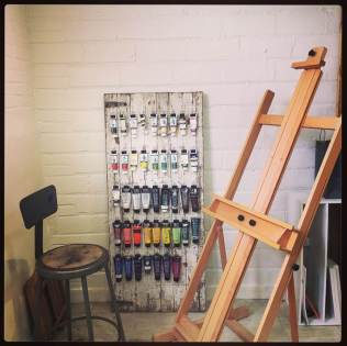 Paint and easel