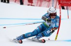 Nina Loeseth (NOR) competes in the first run of the Giant Slalom during the Audi FIS Ski Ski World Cup at Killington in central Vermont. Loeseth logged in the fastest time at 59.47 (FTO photo: Martin Griff)