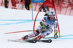 Ana Drev (SLO) competes in the first run of the Giant Slalom during the Audi FIS Ski World Cup at Killington in central Vermont on Saturday, November 26, 2016. (FTO photo: Martin Griff)
