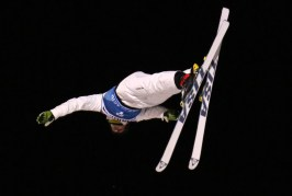 Australian Olympian David Morris competes in the second final at the FIS Putnam Investments Lake Placid Freestyle World Cup Men's Aerials competition in Lake Placid NY on Saturday January 14, 2017. (FTO photo: Martin Griff)