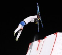 Australia's David Morris goes off the take-off ramp during the FIS Putnam Investments Lake Placid Freestyle World Cup Men's Aerials competition in Lake Placid, NY on Saturday January 14, 2017. (FTO photo: Martin Griff)