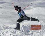 Theo Lejeune of France was out of the competition after this landing at the FIS Putnam Investments Lake Placid Freestyle World Cup moguls competition at Whiteface Mountain in Wilmington, NY on Friday January 13, 2017 (FTO photo: Martin Griff)