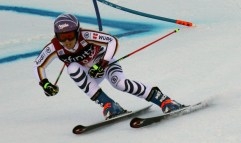 Germany's Viktoria Rebensburg competes in the first run at the women's Audi FIS Ski World Cup giant slalom race at Killington in Vermont on Saturday, November 25, 2017. (FTO photo: Martin Griff)