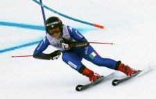 Italy's Sofia Goggia competes in the first run at the women's Audi FIS Ski World Cup giant slalom race at Killington in Vermont on Saturday, November 25, 2017. (FTO photo: Martin Griff)