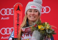 U.S.A.'s Mikaela Shiffrin came in second place in the women's Audi FIS Ski World Cup giant slalom race at Killington in Vermont on Saturday, November 25, 2017. (FTO photo: Martin Griff)