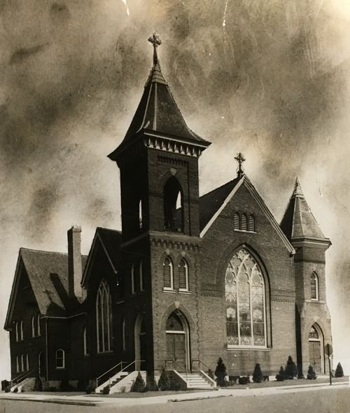Christ Union Church after being rebuilt in 1897.