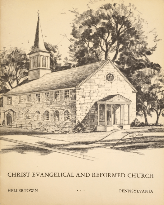 sketch of new church building