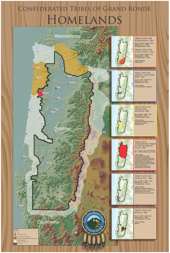 Grand Ronde Oregon Map.Homelands Of Confederated Tribes Of Grand Ronde V2 First Unitarian