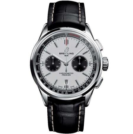 Replica Breitling Premier B01 Chronograph Panda Dial AB0118221G1P2 - Breitling Clone Watches