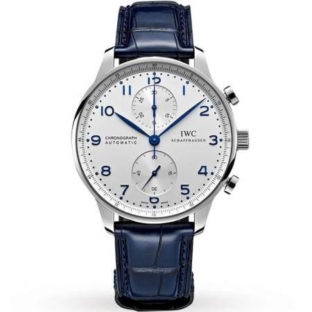 Replica IWC Portugieser Chronograph Silver Dial IW371446 - IWC Clone Watches