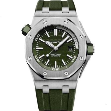 Replica Audemars Piguet Royal Oak Offshore Diver Khaki 15710ST.OO.A052CA.01 - Audemars Piguet Clone Watches