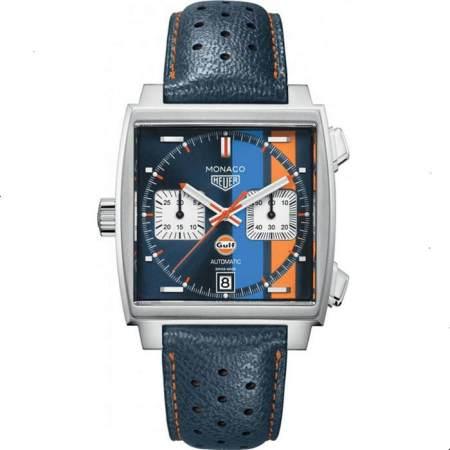 Replica TAG Heuer Monaco Gulf 50th Anniversary Steve Mcqueen CAW211R.FC6401 - TAG Heuer Clone Watches