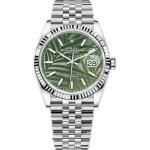 Replica Rolex Datejust 36mm Green Palm Dial Dial 126234 – Rolex Clone Watches