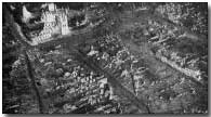 Ruins of Ypres as seen from the air