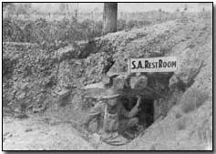 Salvation Army dugout on the Western Front