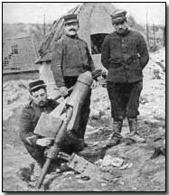 French trench mortar