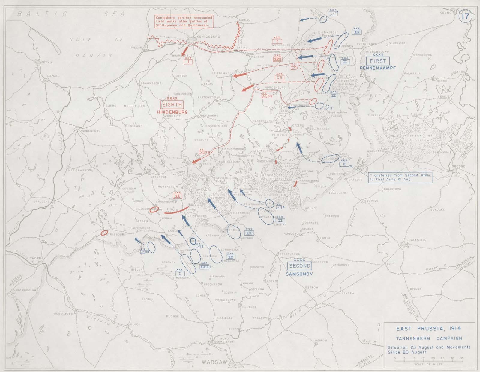 Battle of Tannenberg in 1914