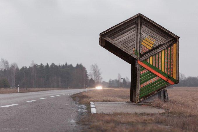 11. Kootsi, Estonya. Fotoğraf: Christopher Herwig. Not: İskoçya'da bu tarz otobüs durakları görmek isterim.