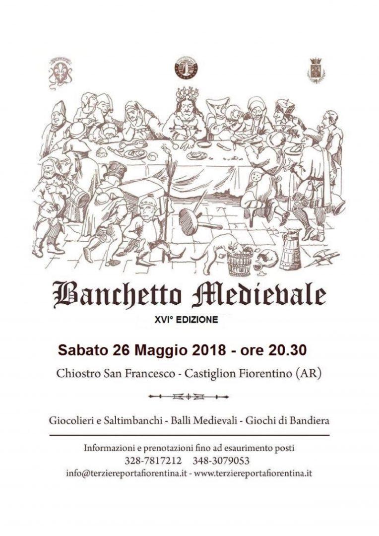 XV° Banchetto Medioevale - Sabato 27 Maggio 2017 a Castiglion Fiorentino