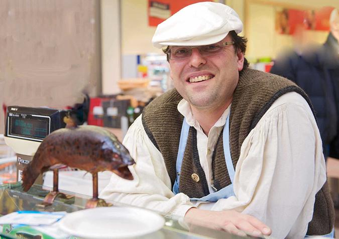 Andreas Pinter am Wochenmarkt