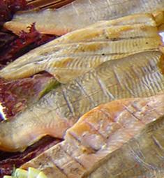 geräucherte Fischfilets