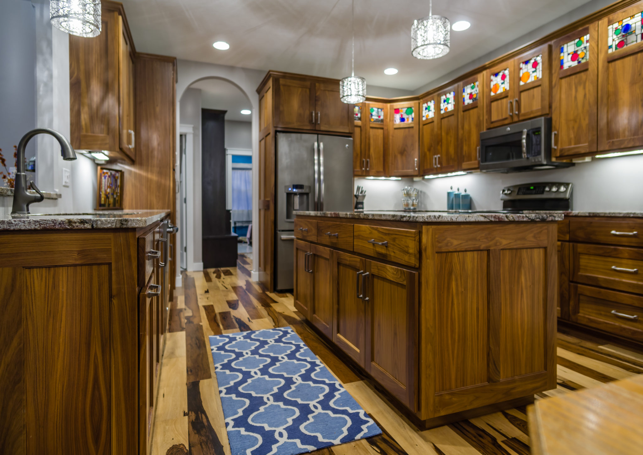 Walnut Kitchen with Pecan Flooring