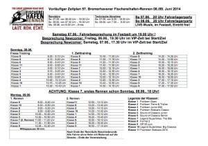 Zeitplan Fischereihafen-Rennen 2014 V1