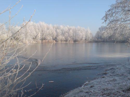 Teich Kammermann im Winter 1