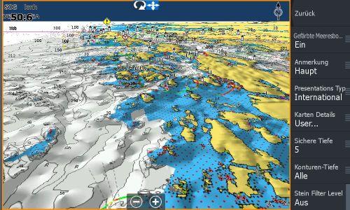 Test Navionics Sonarcharts Live angeln in norwegen Map mit 3D Ansicht
