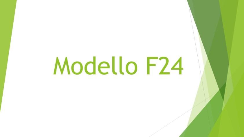 IL MODELLO 24,