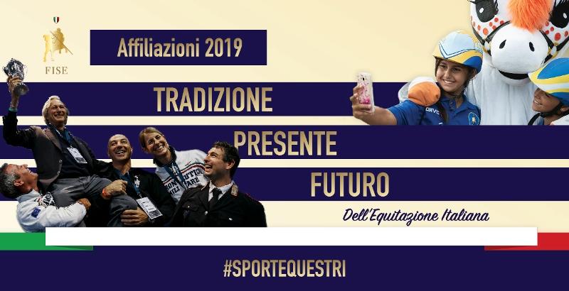 FISE affiliazioni 2019 social FB 8nov 02
