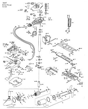 Minn Kota All Terrain 30 Parts  1998 from FISH307
