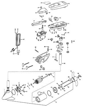 Minn Kota Turbo 65 Parts  1998 from FISH307