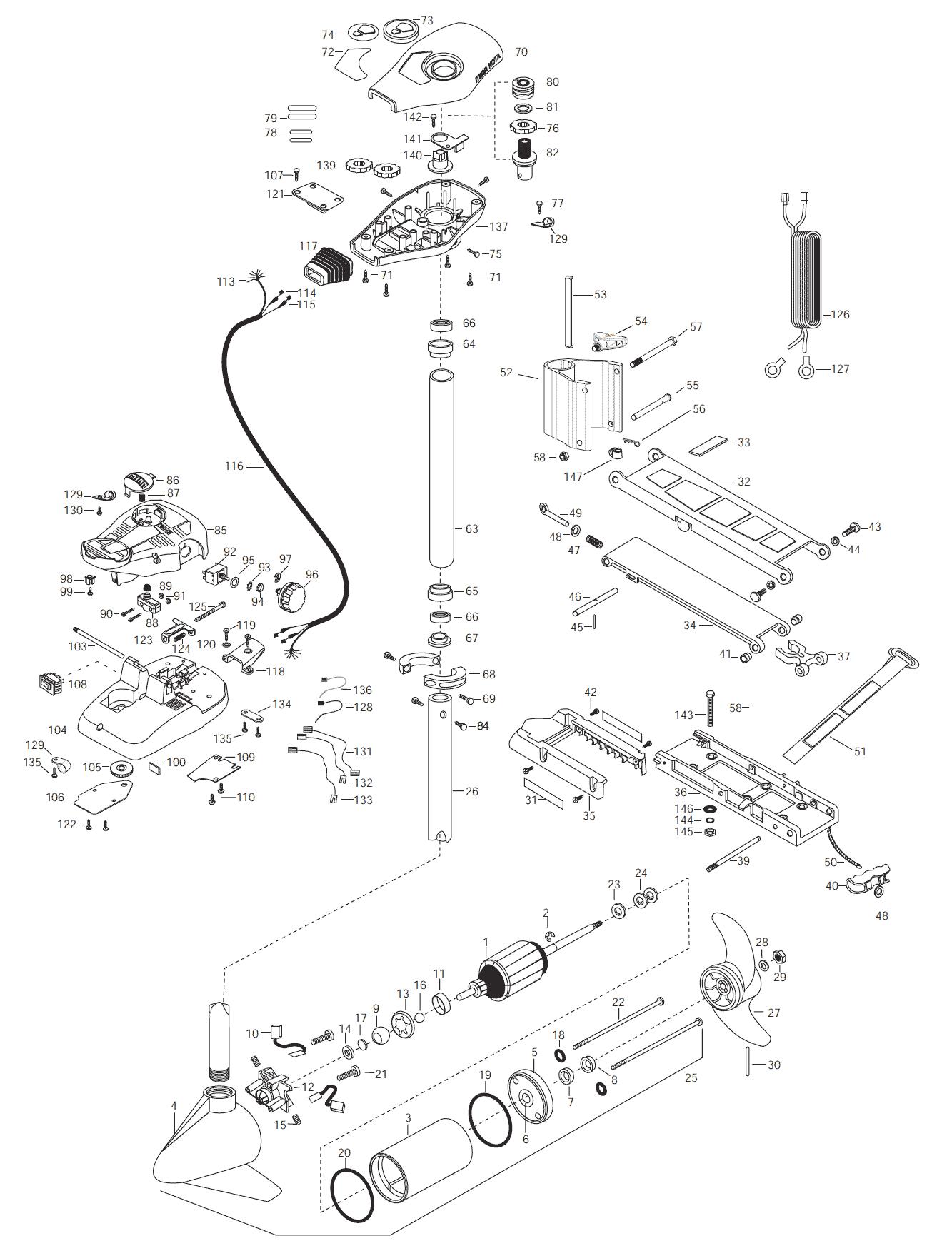 Minn Kota All Terrain 40 42 Inch Parts