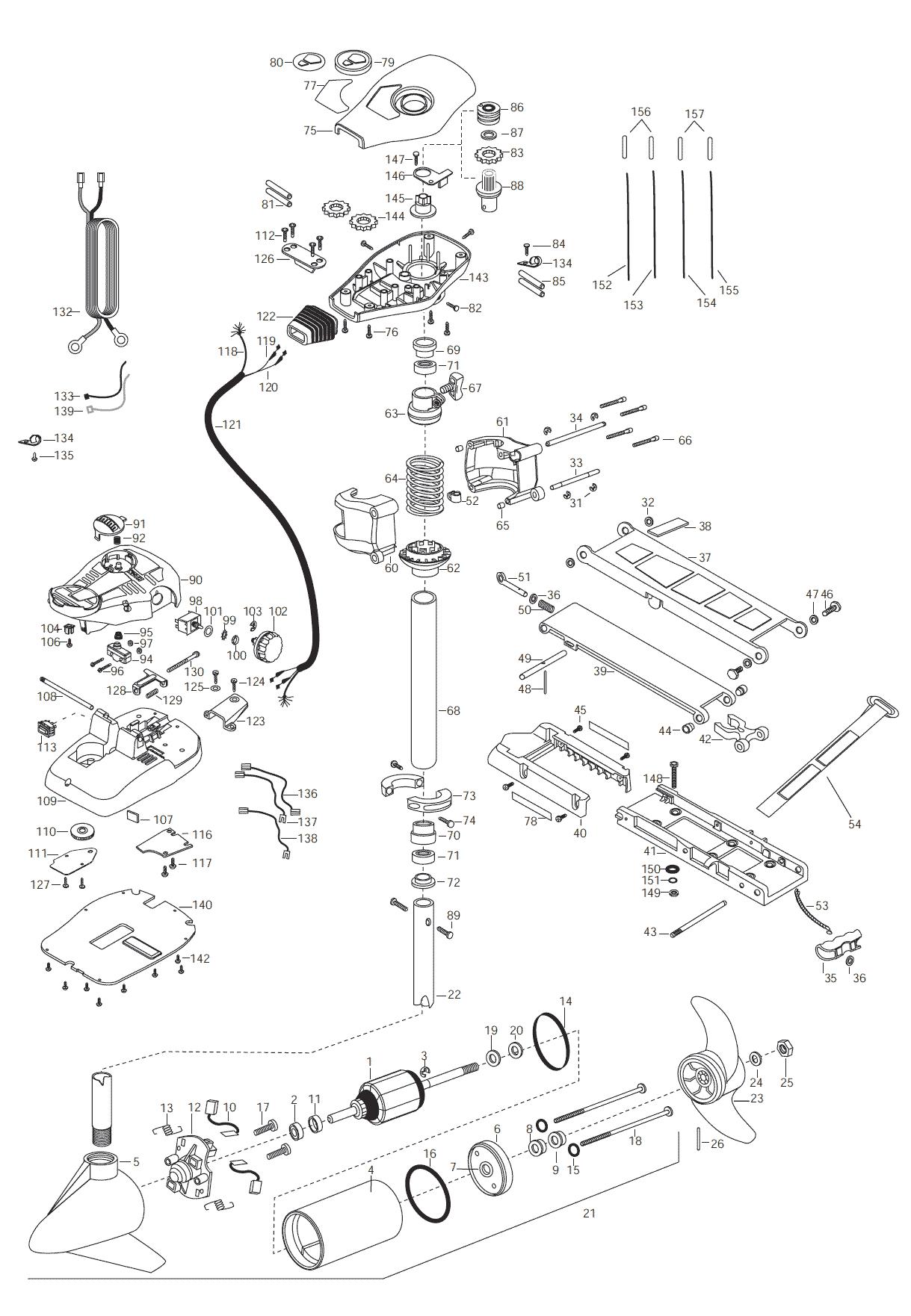 minn kota all terrain 65 52 inch parts