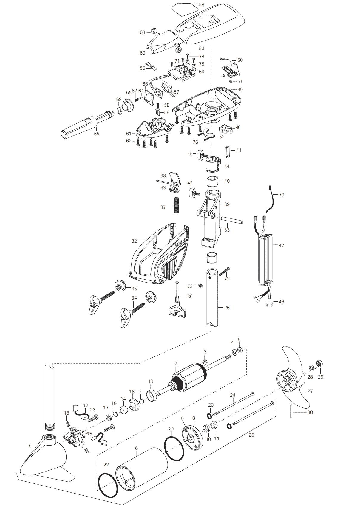 Minn Kota Maxxum 40t 36 Inch Parts