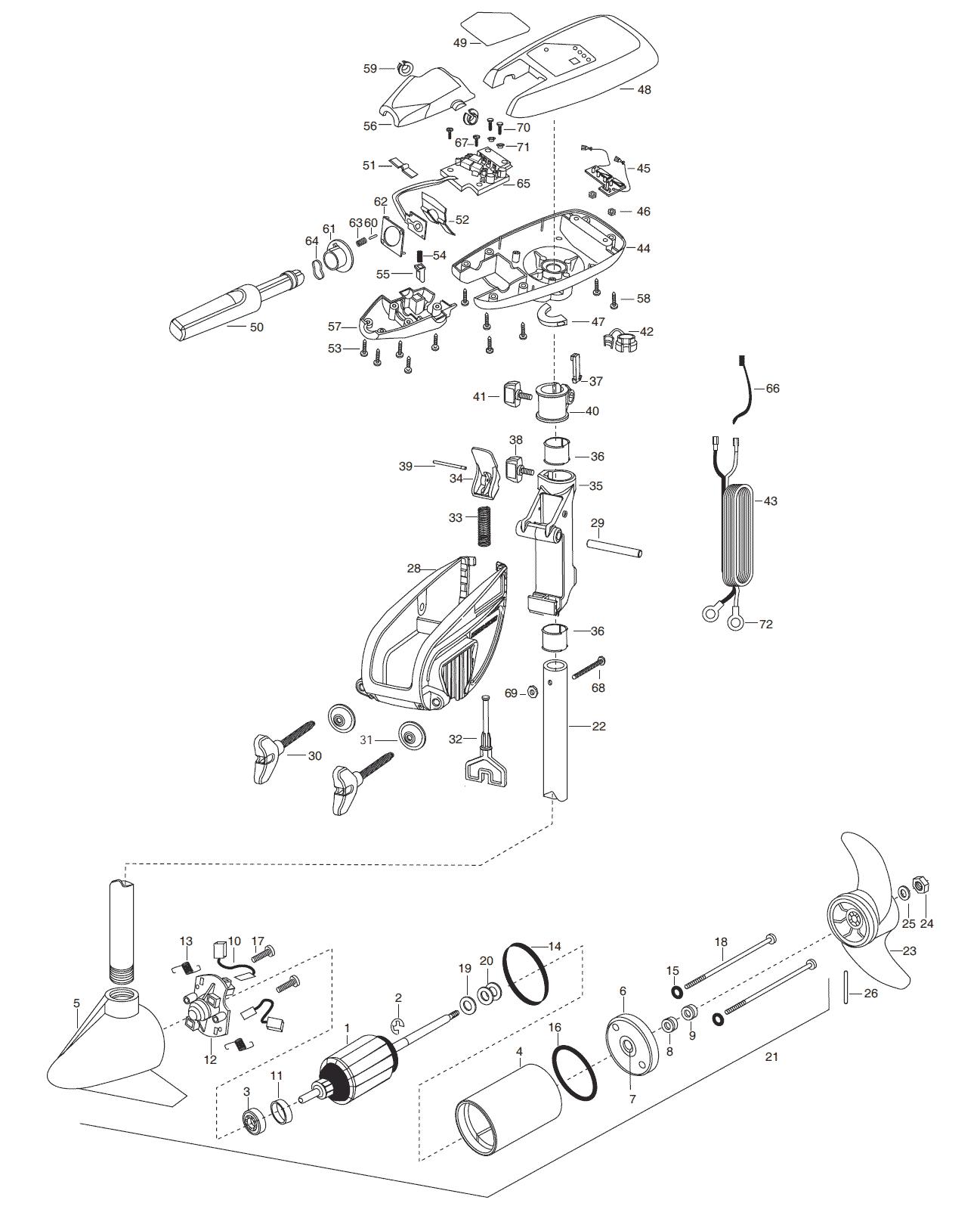 Minn Kota Maxxum 55t Amp 55bt 36 Inch Parts