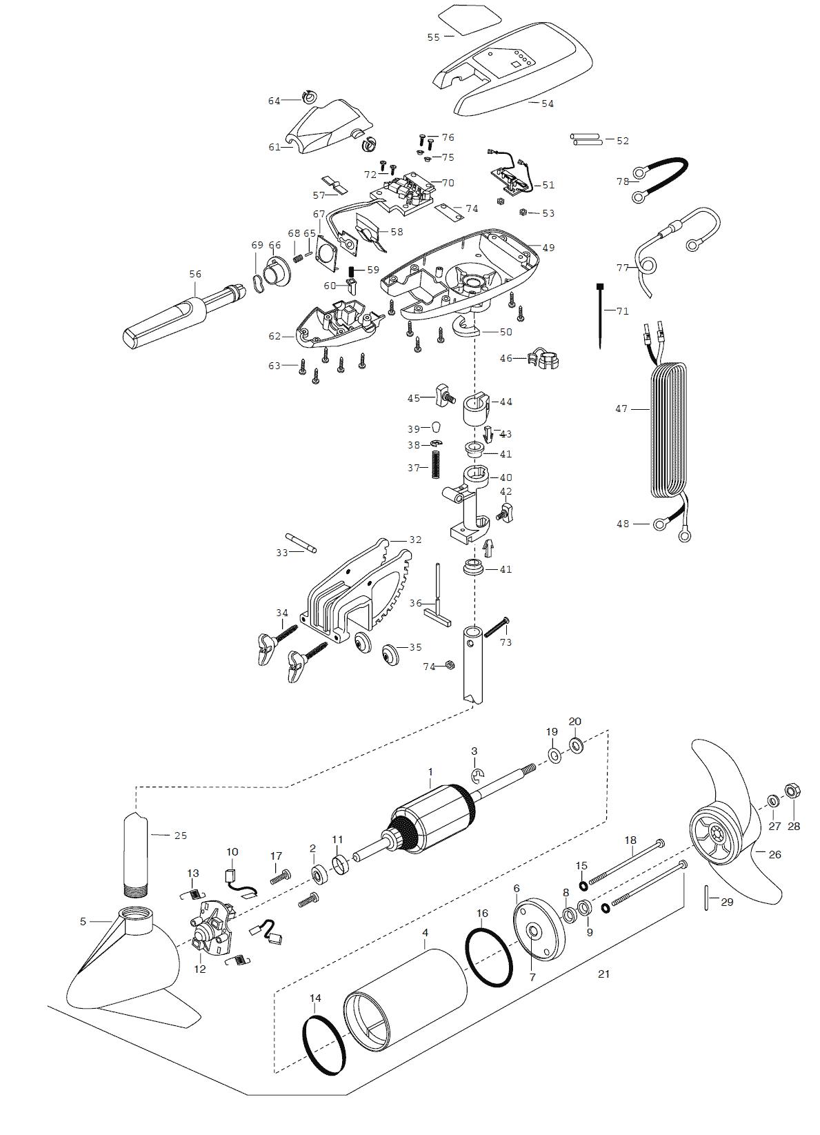 Minn Kota Maxxum 65t Amp 65bt 36 Inch Parts